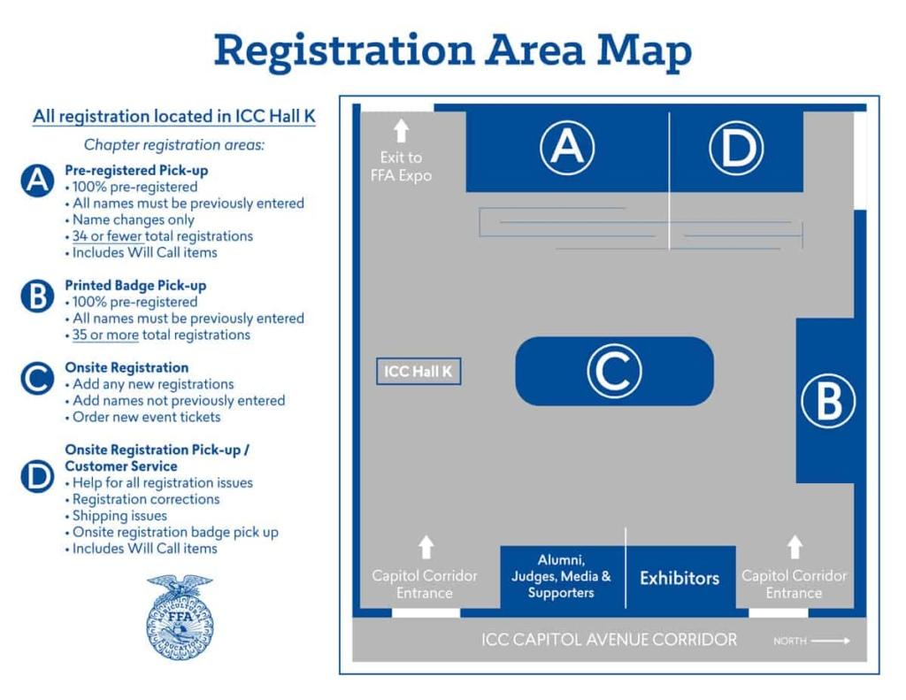 Registration Area Map