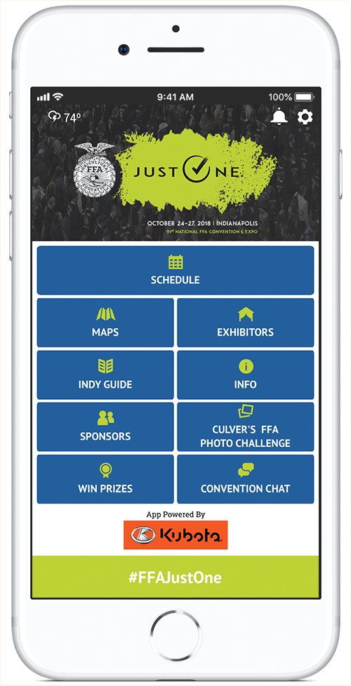iPhone Screen FFA Convention App