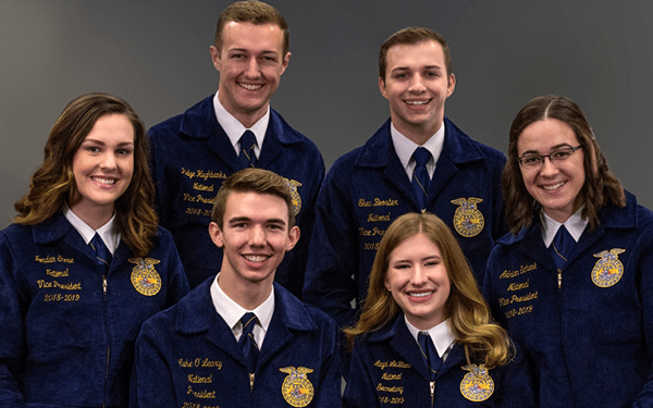 2018-19 National FFA Officers Portrait